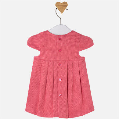 Mayoral baby girl cotton dress-coral