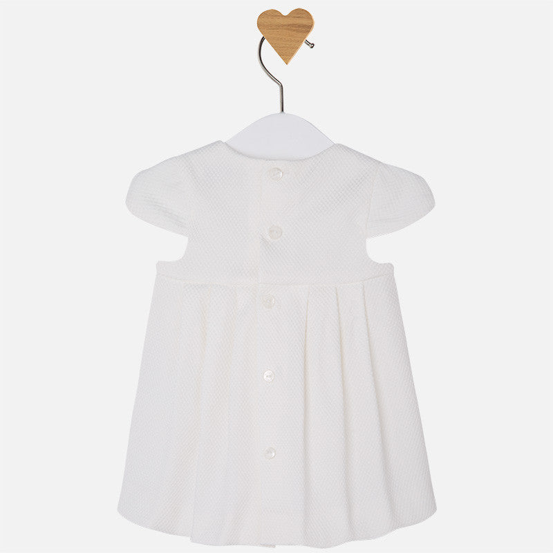 Mayoral baby girl cotton dress-white