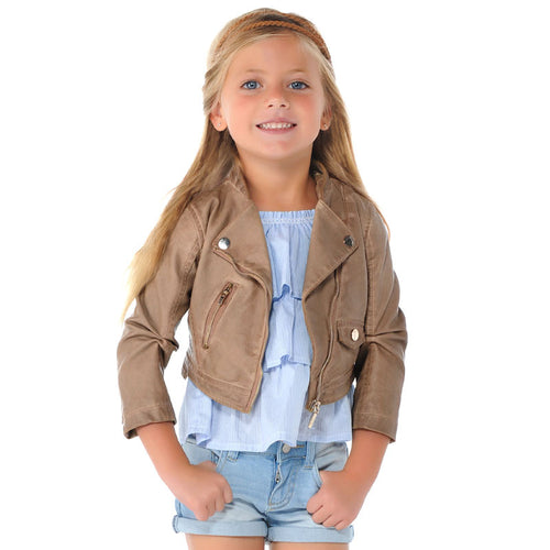 MAYORAL Synthetic Leather Jacket-tan