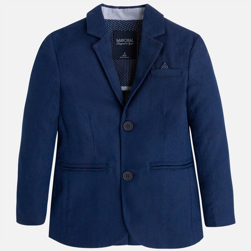 Mayoral boy linen jacket-navy