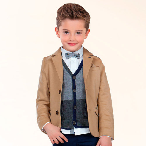 Mayoral Boy's Formal Blazer-Camel