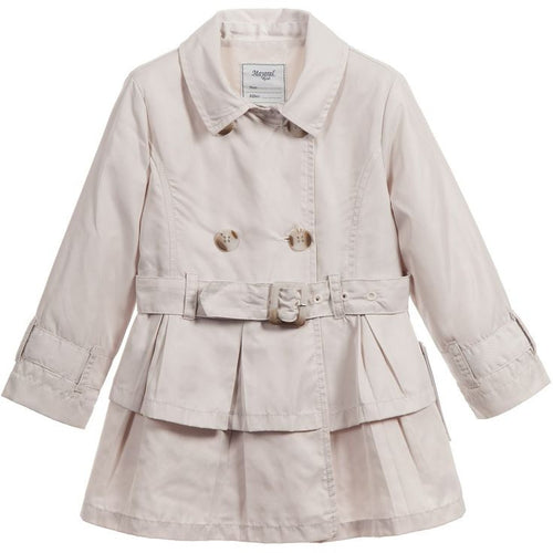 Mayoral girl trench coat with belt-sand