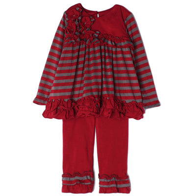 ISOBELLA & CHLOE CHERRY SORBET 2PC TUNIC & LEGGING SET
