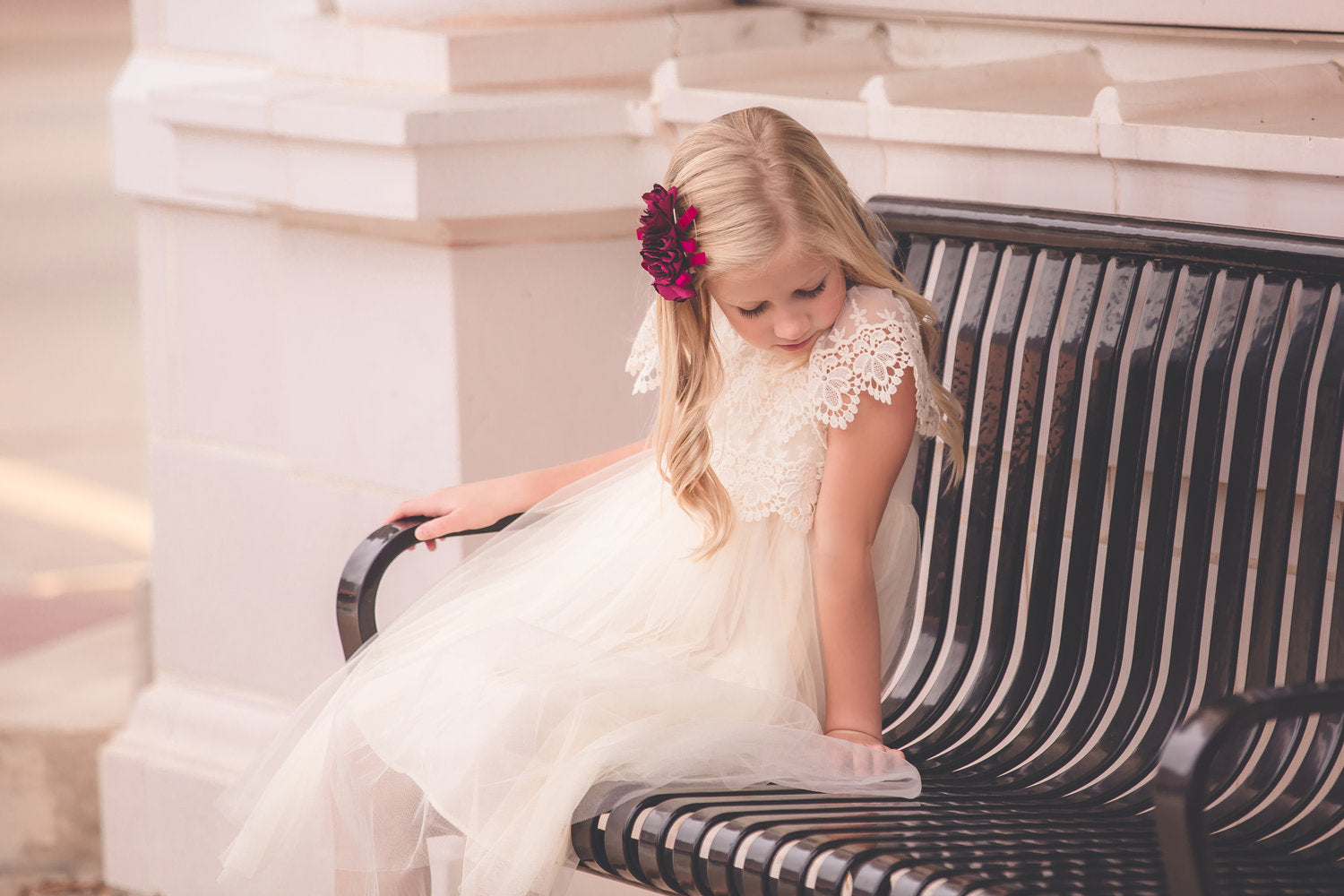 MaeLi Rose Lace & Tulle Dress