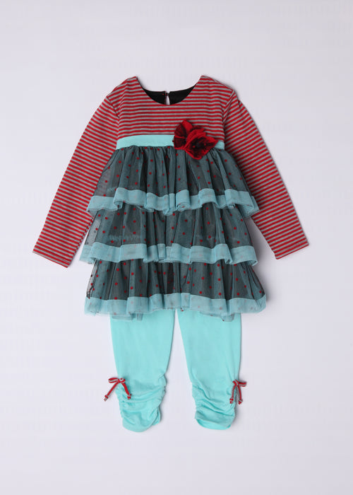 ISOBELLA & CHLOE GIRLS CARNIVAL CHRISTMAS OUTFIT