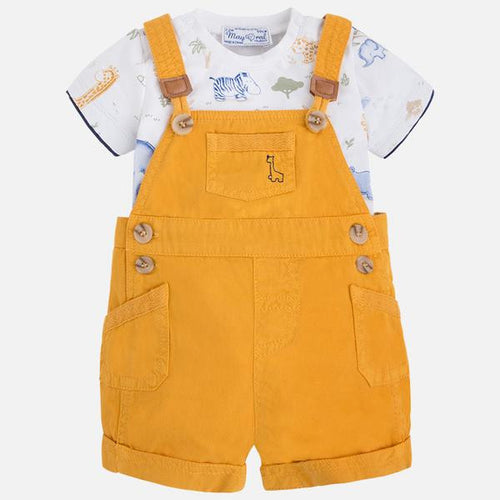 Mayoral Baby Boys T-Shirt and Curry Overalls