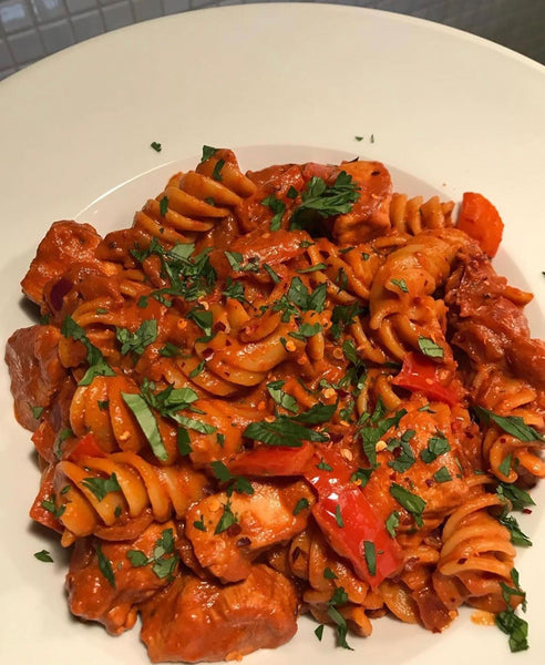 Low Calorie Chipotle Chicken Pasta Recipe