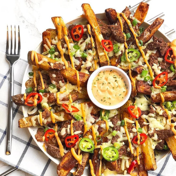 Slimming friendly loaded chips & wedges