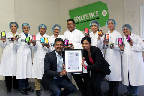Spicentice and team BRC Accreditation