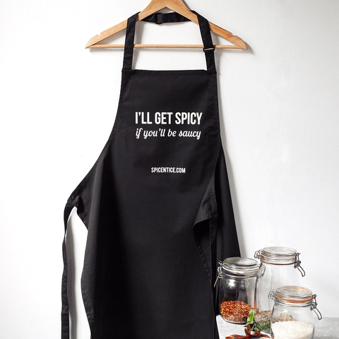 I'll Get Spicy If You'll Be Saucy Apron | Easy Recipe | Spice Meal Kits | SPICE N TICE