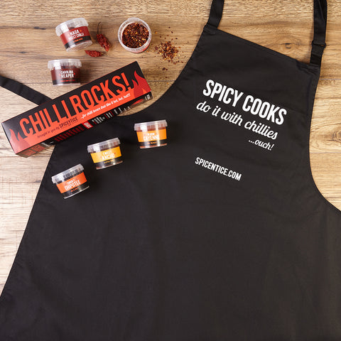 Chilli Rocks Gift Set & Apron Bundle
