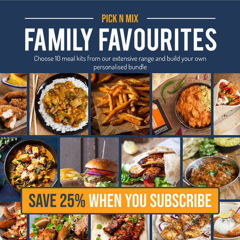 Pick N Mix Family Favourites Bundle - (SUBSCRIBE & SAVE 25%) 10 Meal Kits for £12