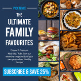 Pick N Mix Ultimate Family Favourites - (SUBSCRIBE & SAVE 25%) 15 Premium Meal Kits for £23