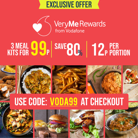 VeryMe Rewards - Exclusive Prize - 3 Meal Kits for 99p (USE CODE VODA99)