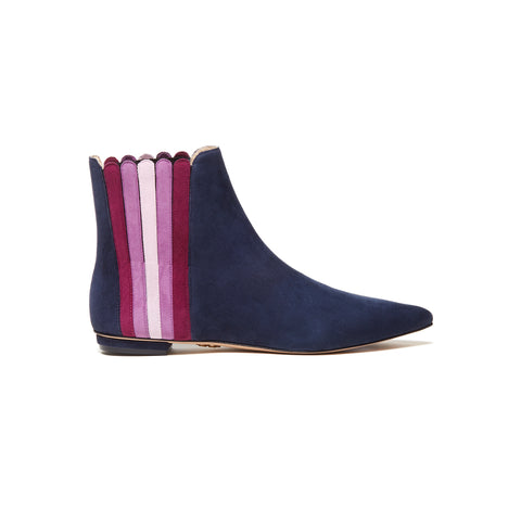 ANAIS Ankle Boots - Dark Sapphire Multi (25mm)