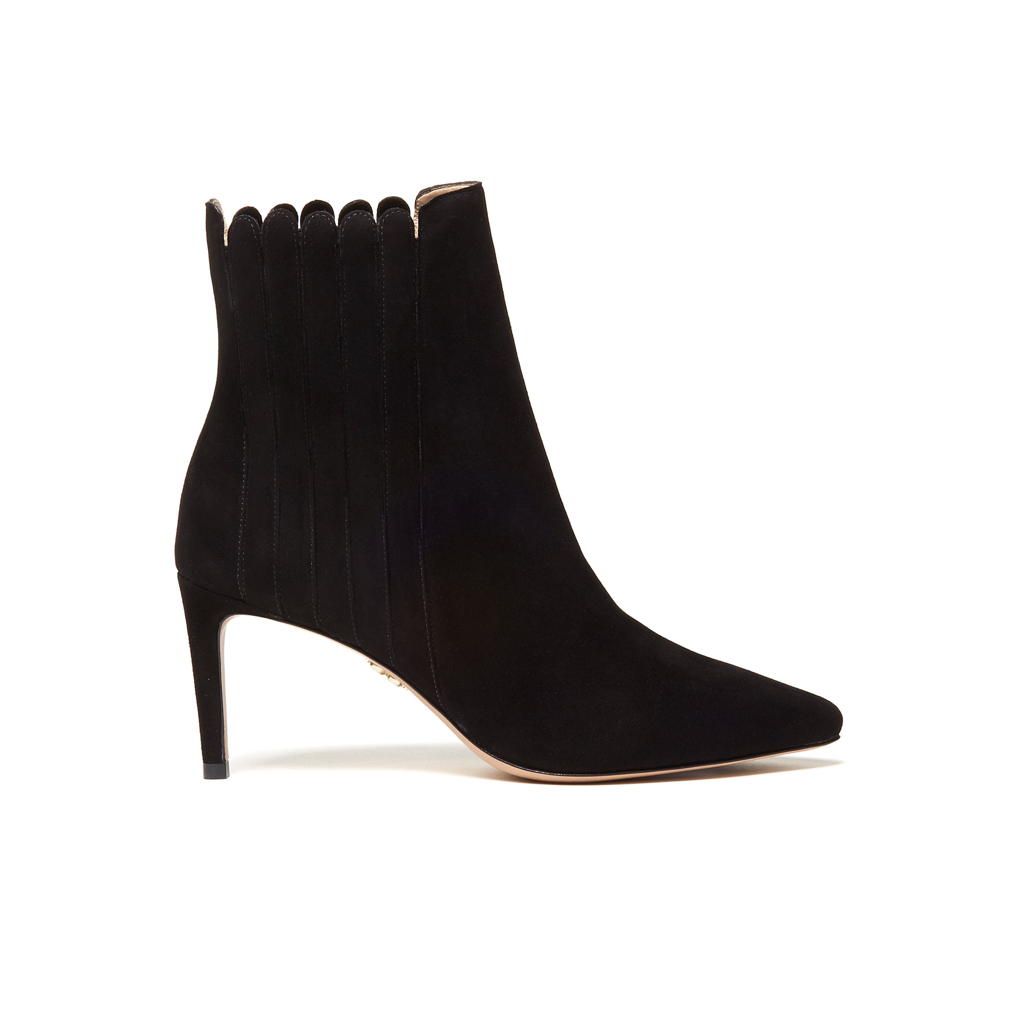 ANAIS Ankle Boots - Black Suede (76mm)
