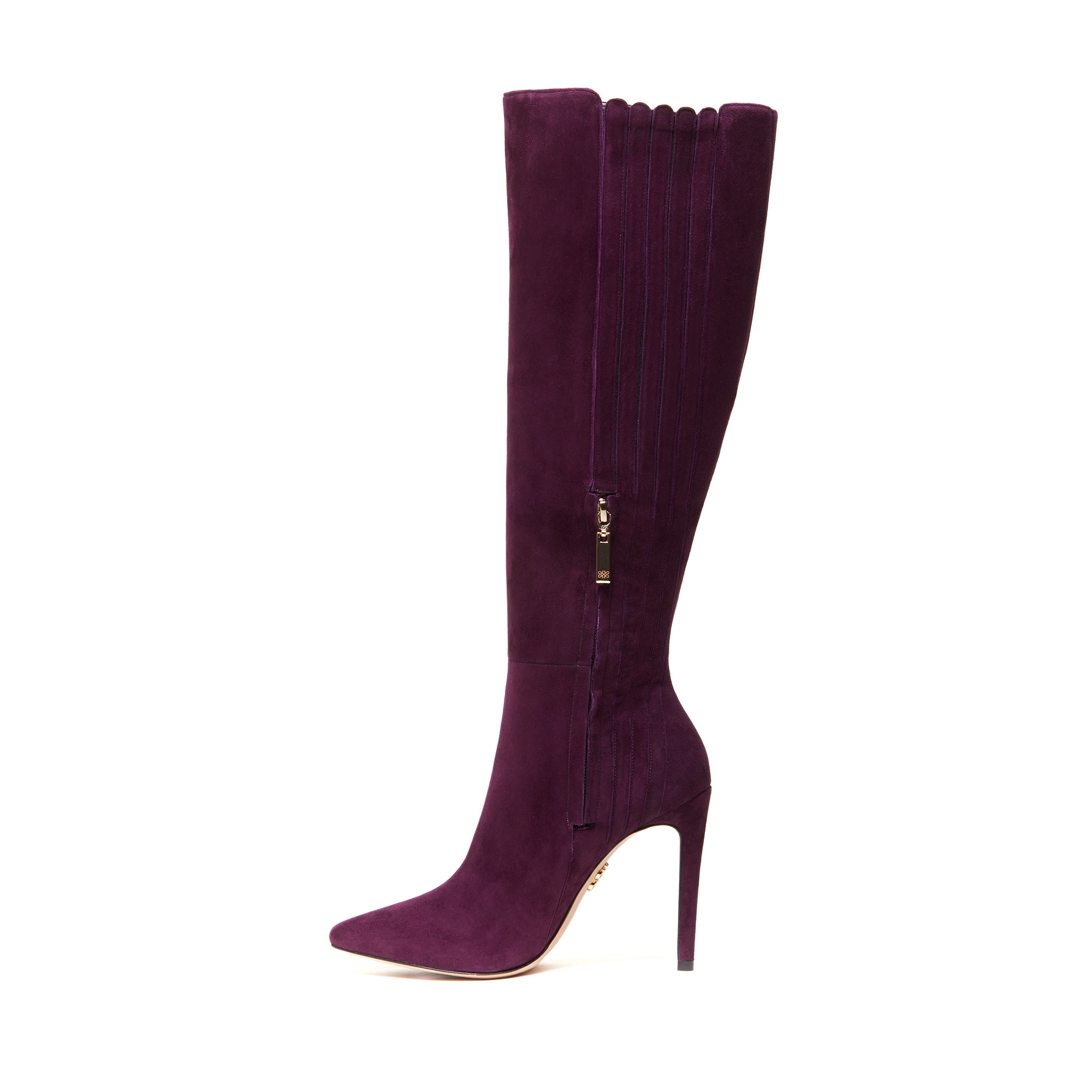 ANAIS Knee Boots - Eggplant (105mm)
