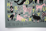ABC Animal Alphabet Poster