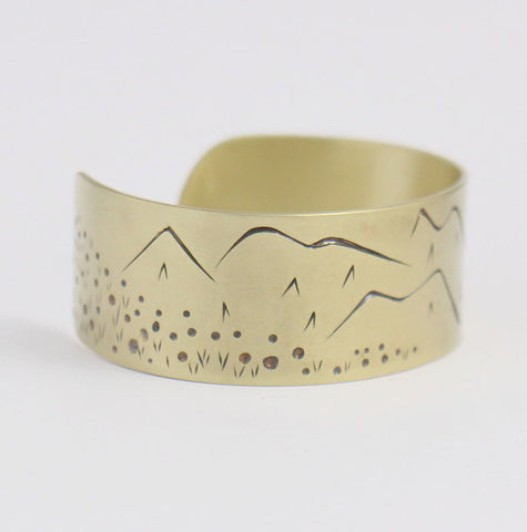 Meadow Brass Cuff