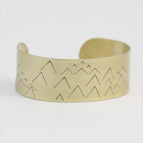 Little Mountains Brass Cuff