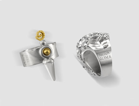 Milton Glaser and Javier Romero rings