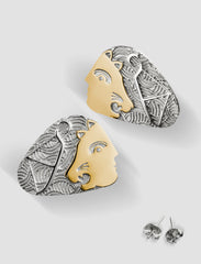 DE2 - Diana Gold and silver earrings