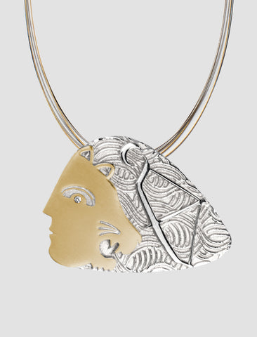 DP2 - Diana Gold and silver pendant