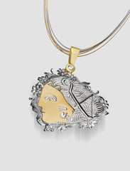 DP9 - Diana Gold and silver pendant with diamond