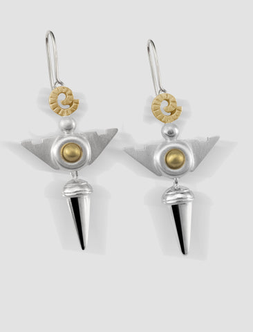 VE2 - Venus Gold and silver earrings