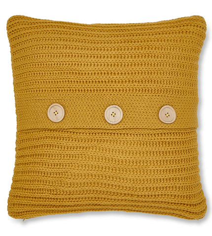 Chunky Knit Cushion Cover - Ochre