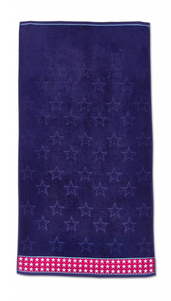 Stars & Stripes Beach Towel - Blue