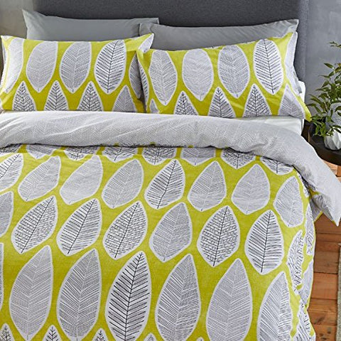 Retro Leaves Ochre Duvet Set