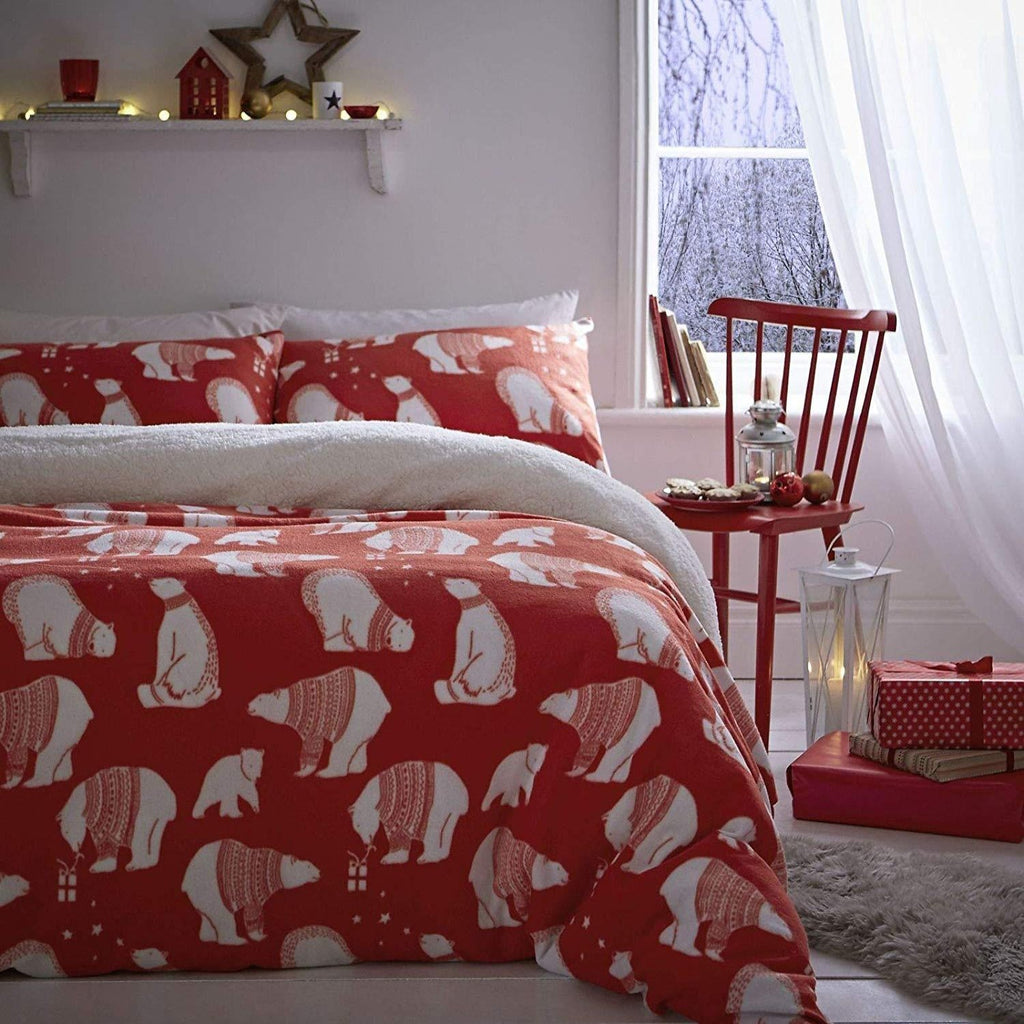 Polar Bear Fleece Duvet Set - CLEARANCE OFFER LIMITED STOCK
