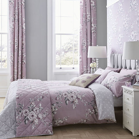 Catherine Lansfield Canterbury Heather Duvet Set - New Design -