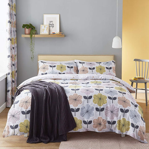 Retro Floral Duvet Set