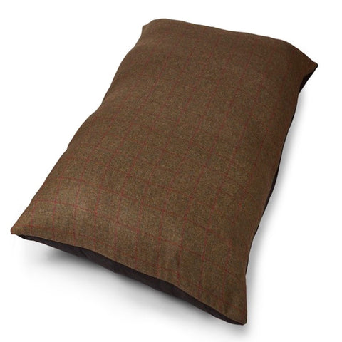 Tweed Wool Mattress Dog Bed - Olive