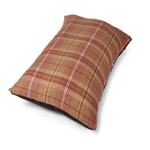Tweed Wool Mattress Dog Bed - Red