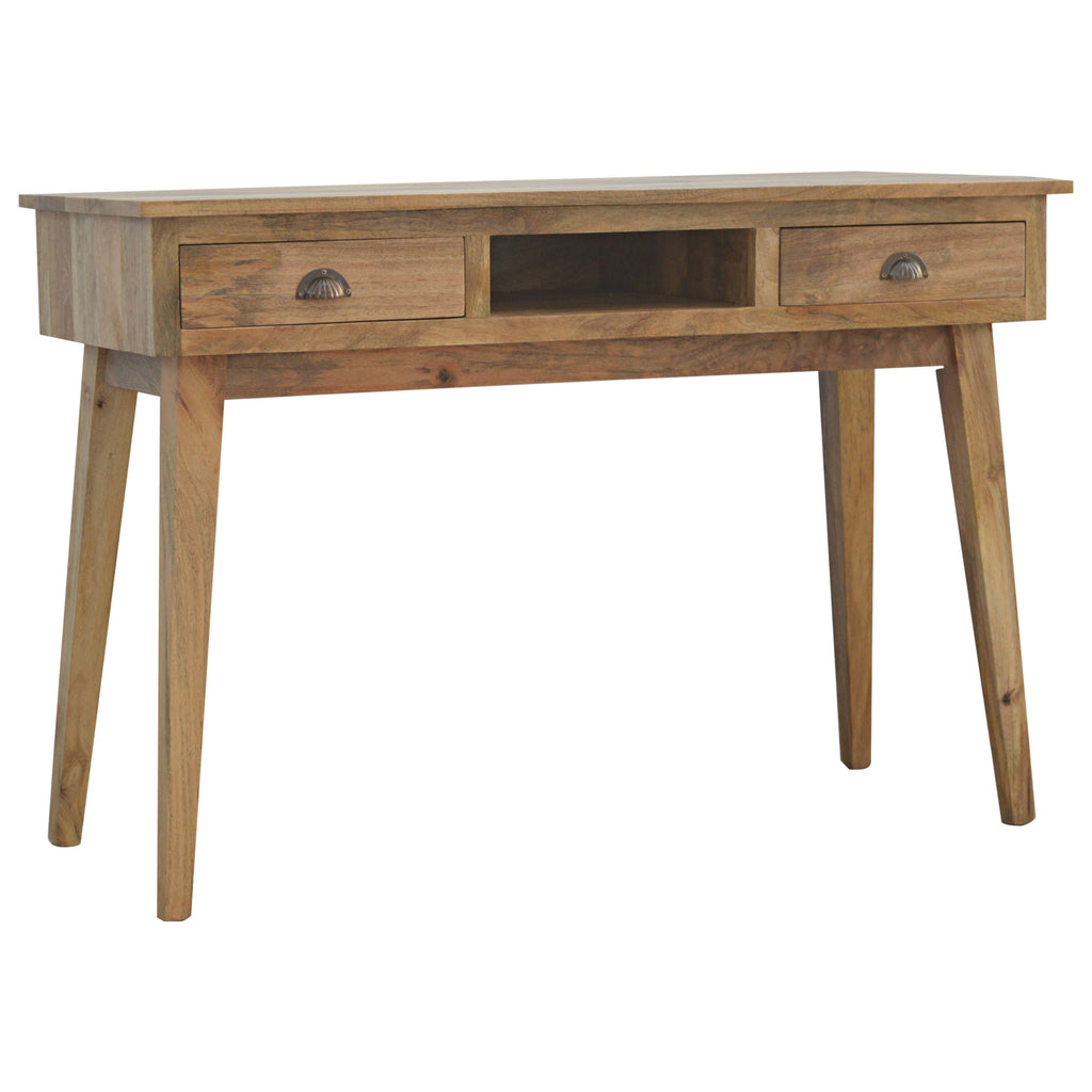 Writing Desk with 2 Drawers and Open Slot