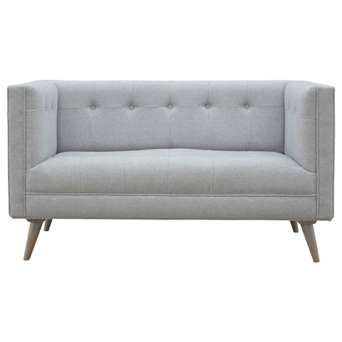 Scandinavian Designed 2 Seater Sofa In Grey Tweed