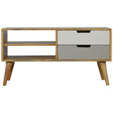 Nordic Style Media Unit with 2 Drawers