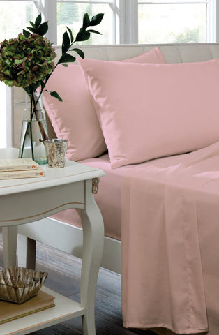 Non Iron Percale Fitted Sheet & Pillowcases - Candy