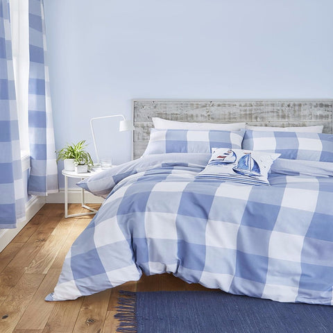 Catherine Lansfield Boston Blue Duvet Set