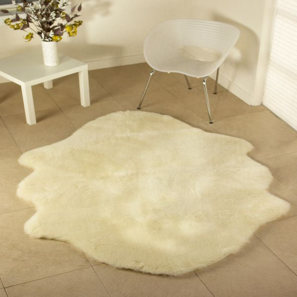 Luxurious Wool Rug Natural Shaped