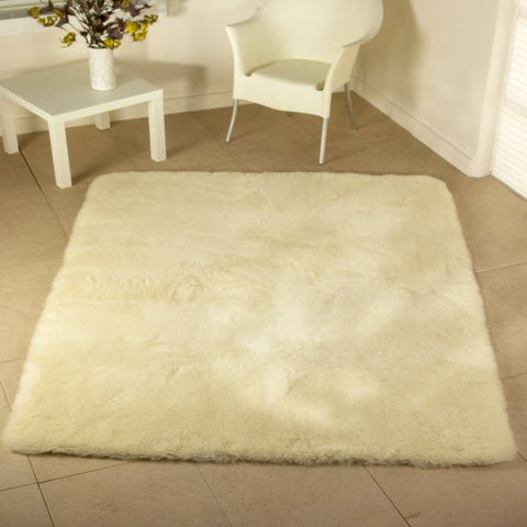 Luxurious Wool Rug Natural - Oblong