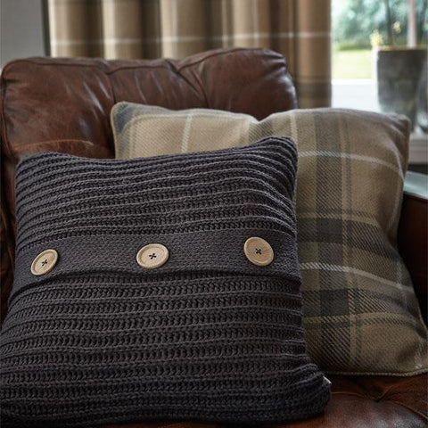 Heritage Check Grey Cushion Cover