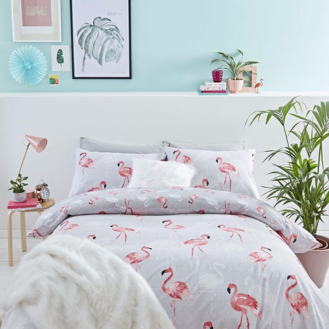Catherine Lansfield Flamingo Duvet Set