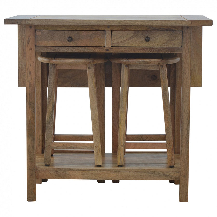 Solid Wood BreakFast Table With 2 Stools