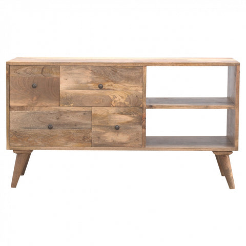 Nordic Style 4 Drawer Media Unit