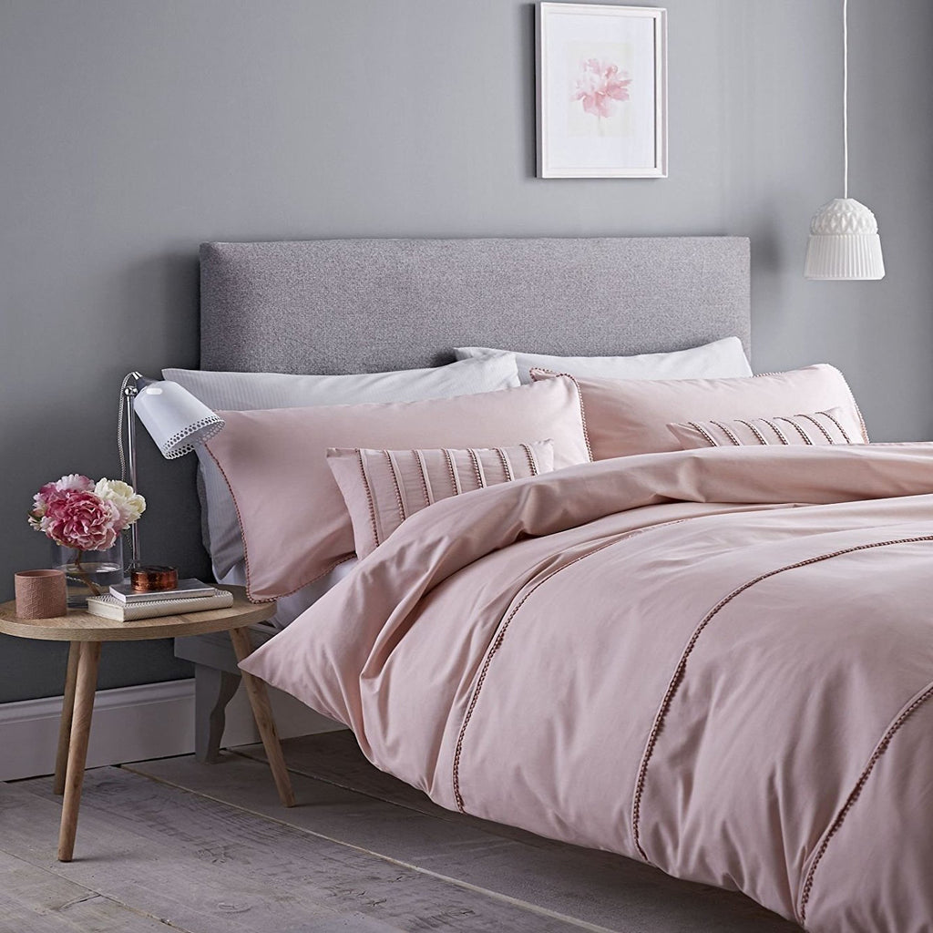 Pom Pom Embellished Blush Duvet Set