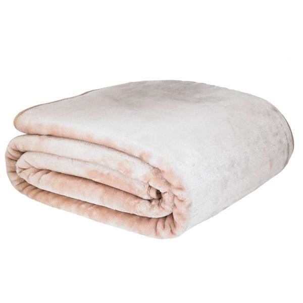 Catherine Lansfield Plain Raschel Latte Throw